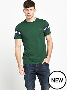 fred-perry-bomber-sleeve-t-shirt