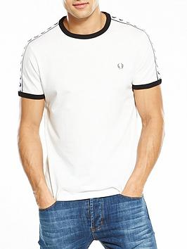 Fred Perry Fred Perry Sports Authentic Taped Ringer T-Shirt - White Picture