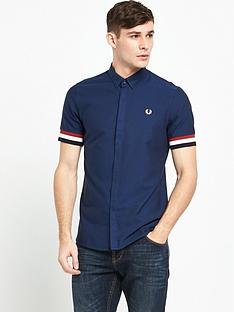 fred-perry-striped-cuff-short-sleeve-shirt