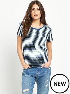 levis-perfect-pocket-t-shirt-indigo-stripe