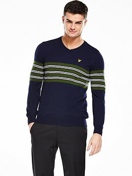 Lyle & Scott Lyle And Scott Golf Mens Ballater V Neck Jumper