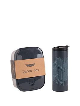 Beau & Elliot Circuit Stainless Steel Bento Box &Amp Travel Mug