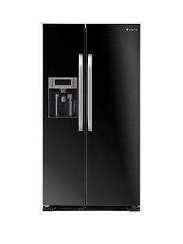 Hotpoint Sxbd925Fwd Frost Free UsaStyle Fridge Freezer  Black
