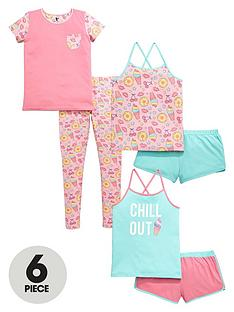 v-by-very-girls-ice-cream-chill-out-pyjamas-set-6-piece