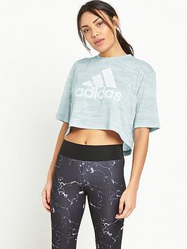 Adidas Box Crop Aeroknit TShirt
