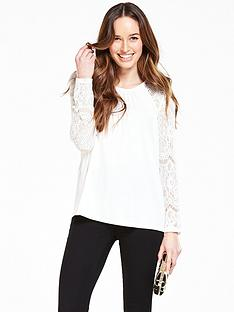 v-by-very-long-sleeve-lace-drape-back-top