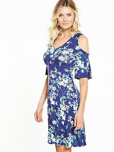 v-by-very-cold-shoulder-tea-dress