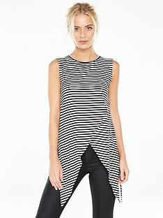 v-by-very-striped-dip-hem-vest