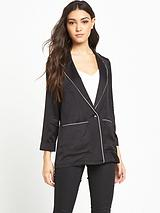 Satin Pyjama Style Jacket