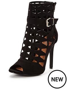 glamorous-caged-buckle-heeled-sandal