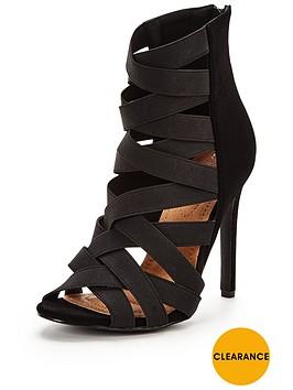 glamorous-elastic-strap-heeled-sandal