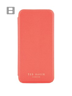 ted-baker-shannon-folio-case-for-iphone-67-coral