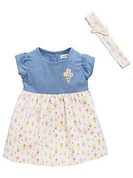 Ladybird Baby Girls Ice Cream Dress Set (2 Piece)