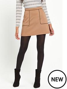 miss-selfridge-miss-selfridge-petite-camel-ponte-piped-detail-aline-skirt