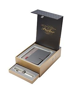 parker-parker-sonnet-18ct-fountain-pen-amp-premium-notebook-in-premium-gift-box