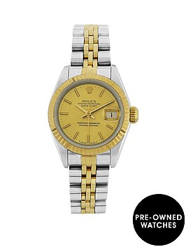 rolex-bimetal-datejust-champagne-26mm-dial-ladies-watch-pre-owned-withnbsppaperworknbsp1987-1994