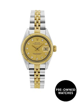 rolex-bimetal-datejust-original-champagne-diamond-26mm-dial-ladies-watch-pre-owned