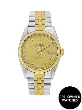 rolex-gents-bimetal-datejust-orginal-factory-set-diamond-36mm-dial-mens-watch-pre-owned