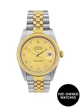 rolex-bimetal-datejust-original-factory-set-champagne-diamond-36mm-dial-mens-watch-pre-owned