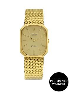 rolex-rolex-preowned-18k-cellini-champagne-dial-18k-integral-bracelet-mens-watch