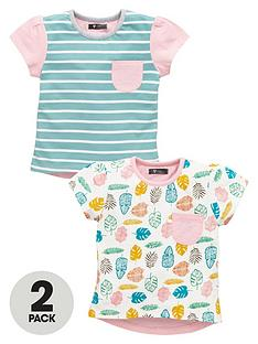 mini-v-by-very-girls-stripe-and-leaf-tees-2-pack