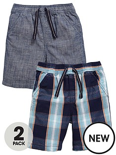 mini-v-by-very-toddler-boys-large-check-and-chambray-shorts-2-pack