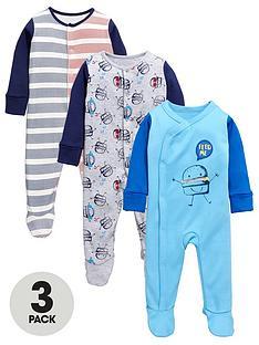 ladybird-baby-boys-sleepsuits-3-pack