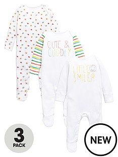 ladybird-baby-unisex-3-pk-bright-sleepsuits