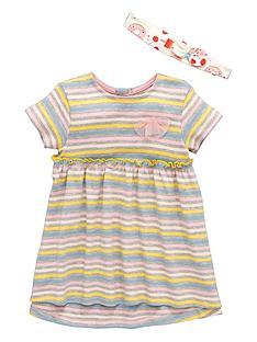 ladybird-nbspbaby-girls-stripe-dress-amp-headband