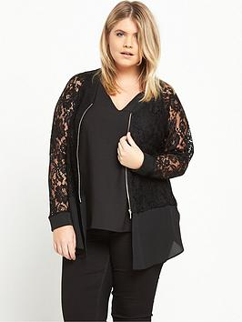 ri-plus-lace-bomber-blouse-black