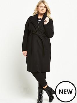 ri-plus-double-collar-belted-coat-black