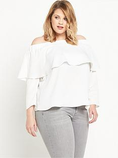 ri-plus-frill-bardot-top-white