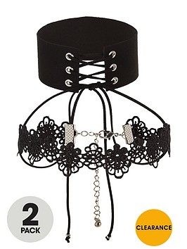 v-by-very-pack-2-lace-choker-set