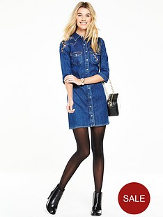 v-by-very-embroidered-denim-shirt-dress