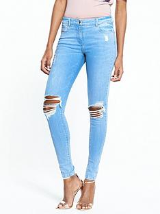 v-by-very-ella-mid-rise-rip-raw-hem-skinny