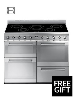 smeg-syd4110i-110cm-symphony-range-cooker-with-induction-hob-stainless-steel