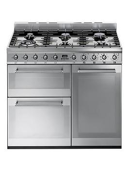 smeg-sy93-90cmnbspdual-fuel-3-cavity-range-cooker-with-gas-hob