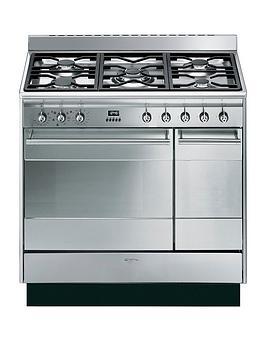 smeg-suk92mx9nbsp90cm-double-oven-dual-fuel-concert-range-cooker