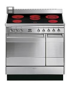 smeg-suk92cmx9-90cmnbspceramic-double-oven-concertnbsprange-cooker-stainless-steel