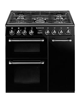smeg-bu93bl-90cmnbspdual-fuel-3-cavity-cooker-with-gas-hob