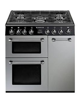 smeg-bu93s-90cm-dual-fuel-3-cavity-cooker-with-gas-hob