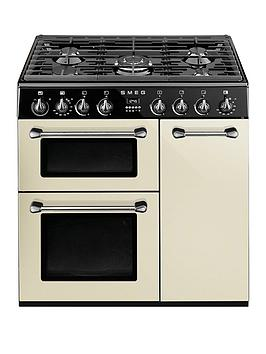 Smeg Bu93P 90Cm Dual Fuel Cooker  Cream