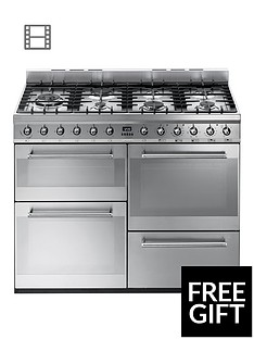 smeg-syd4110-110cm-symphony-dual-fuel-range-cooker-stainless-steel