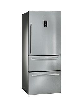 smeg-ft41bxe-75cm-1-door-2-drawer-no-frost-fridge-freezer