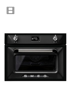 smeg-sf4920mcn-45cmnbspbuilt-in-compact-combination-microwave-oven-black