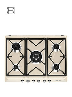 smeg-sr975pgh-70cm-built-in-5-burner-gas-hob-cream