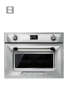 smeg-sf4920vcx-45cm-built-in-compact-steam-combi-oven-silver