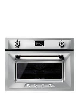 smeg-sf4920vcx-45cm-built-in-compact-steam-combi-oven-silver