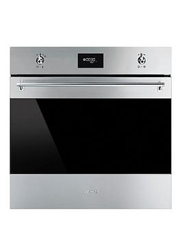 Smeg Sf6371X 60Cm BuiltIn Classic Single Electric Fan Oven With Grill
