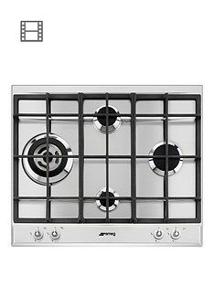smeg-p1641xt-60cm-built-in-linea-gas-hob-with-rapid-burner
